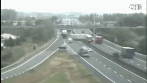 car accident on freeway