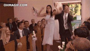 on wedding i hit my wife